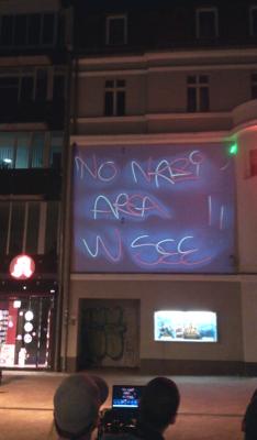 Licht-Show gegen Neonazionalismus