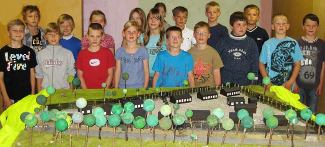 Modell des Krankensammellagers in der Platanengrundschule
