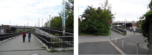 Bösebrücke: Rampe mit Unterführung, Nordrampe an der Norweger Strasse