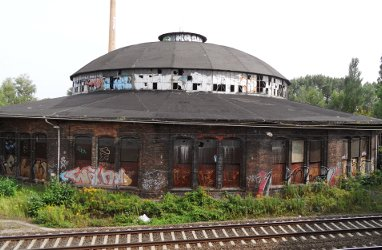 Ehemaliger Rund-Lokschuppen am Bahnhof Pankow-Heinersdorf