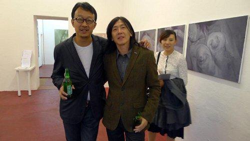 Liang Kegang und  Liu Chuanbao  (r)