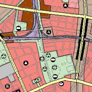 Flächennutzungsplan Berlin - Ausschnitt mit dem Mauerpark
