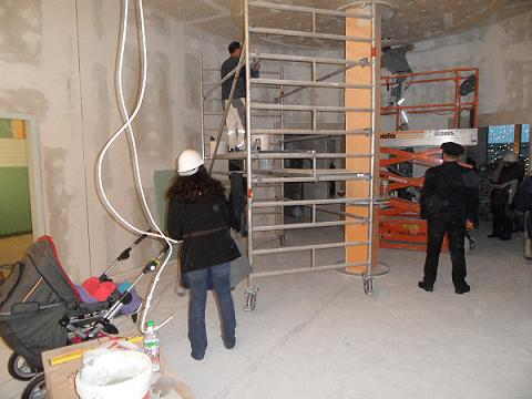 """KLAX Kita """"Karlsson auf dem Dach"""": Baustellenbesichtigung am 21.11.2012 -3"""