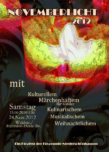 Novemberlicht 2012 - Plakat