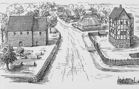 Gut Rosenthal um 1300 - Quelle: Bürgerverein Rosenthal e.V.