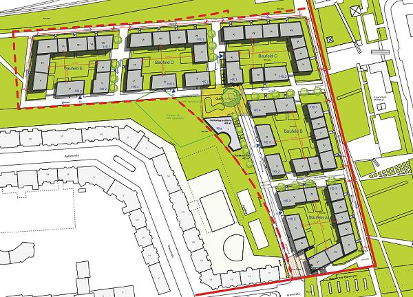 Städtebaulicher Entwurf der Groth-Gruppe 2013 von Lorenzen Architekten