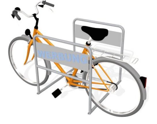 Mobiler  Doppelbügel bietet Platz für 4 Fahrräder (Quelle: Sen Stadt Um)