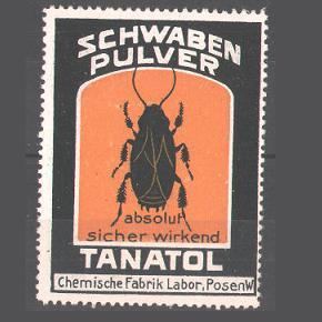 Schwabenpulver TANATOL - Werbemarke