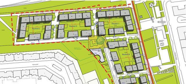 Bebauungsplan-Entwurf (Lorenzen Architekten im Auftrag der Groth-Gruppe)
