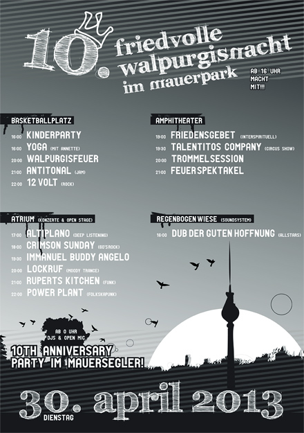 10. Friedvolle Walpurgisnacht am 30.4.2013