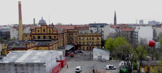 Gelände der Bötzowbrauerei mit Schornstein - Foto: André Franke