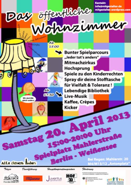 Das Öffentliche Wohnzimmer 2013 - Plakat: Initiative Mitgestalter