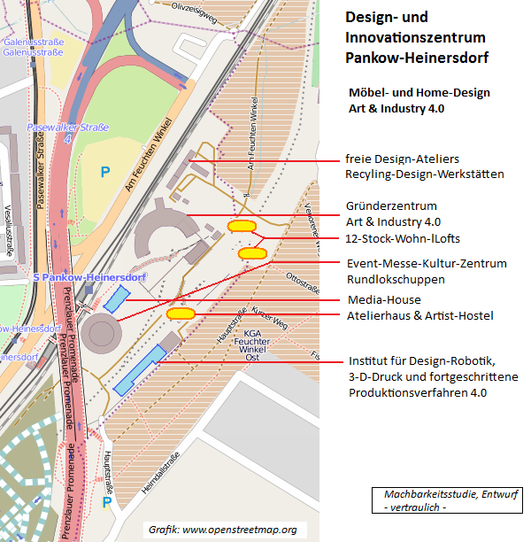 Machbarkeitsstudie für ein Designzentrum Pankow-Heinersdorf