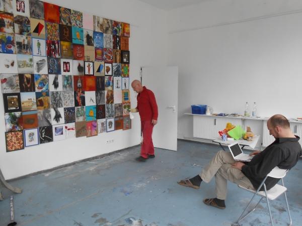 Letzte Vorbereitungen: Jodd im ArtRaum Berlin am 1.Mai 2013
