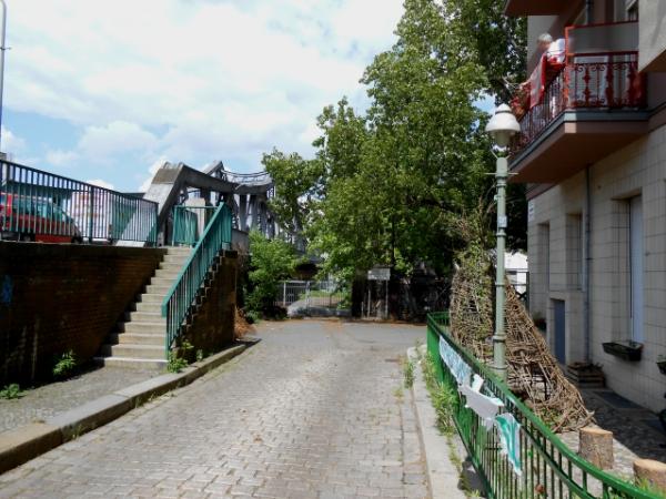 Mauerpark Zufahrt an der Swinemünder Strasse in Wedding
