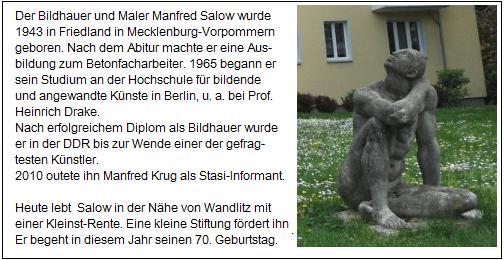 Sitzender - Betonguss-Skulptur von Manfred Salow