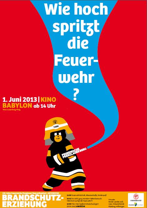 Wie hoch spritz die Feuerwehr? Plakat