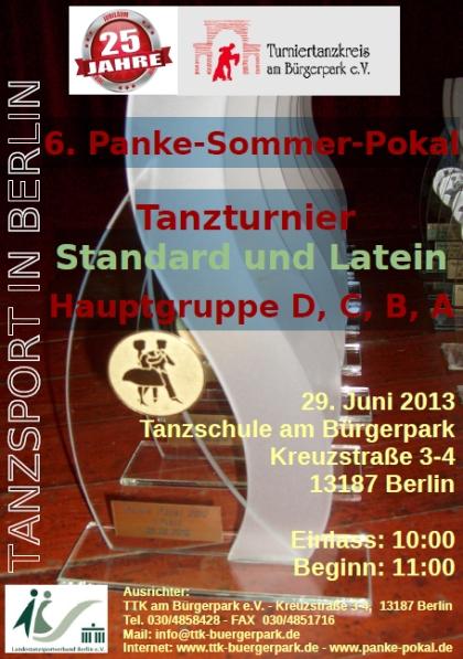 6. Panke-Sommer-Pokal Tanzturnier - Standard & Latein