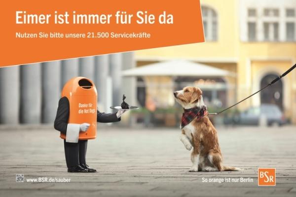 """Plakatmotiv: """"Danke für den Hotdog""""  - Foto: BSR-Pressestelle"""