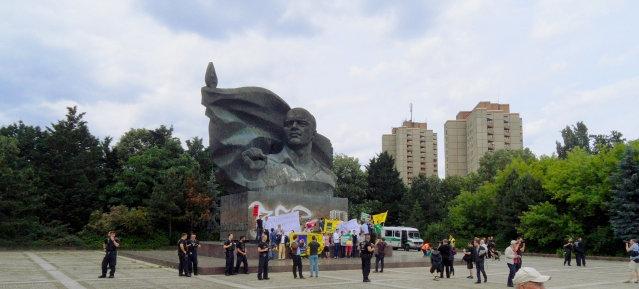 Demonstration der Jung-Liberalen am Thälmann-Denkmal am 15.06.2013