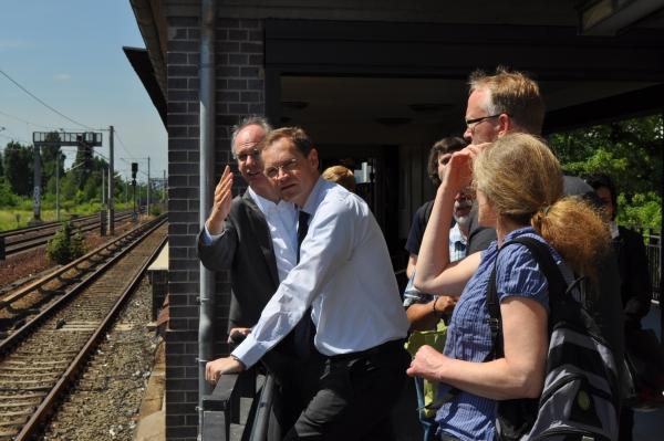 Pressetermin am 19. Juni 2013 Bahnhof Pankow