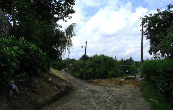 Radweg im Bau