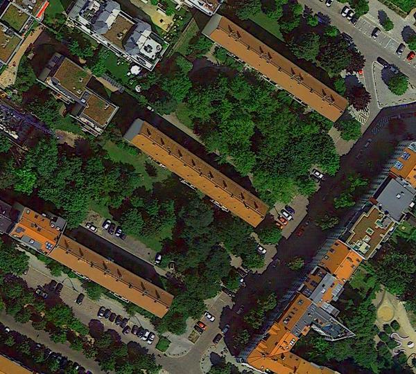 Metzer / Strasburger / Belforter Straße - Google-Map Digital Globe 2013 DE/BKG