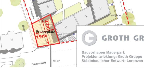 Entreeplatz - Planausschnitt Groth-Gruppe