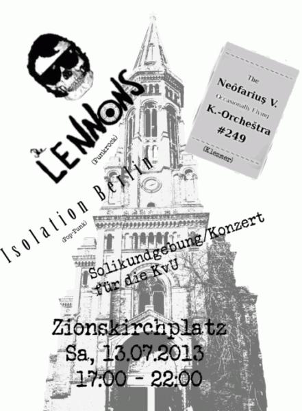 Kirche von Unten - Solikundgebung und Konzert am 13.7.2013 - 17-22h