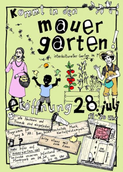 Eröffnungsfeier Mauergarten am 28.7.2013