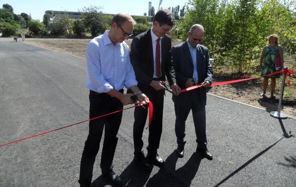 Carsten Spallek - Christian Gaebler und Dr. Lutz Spandau geben den Park frei