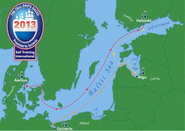 Tall Ship Races 2013 - Von Aarhus nach Stettin