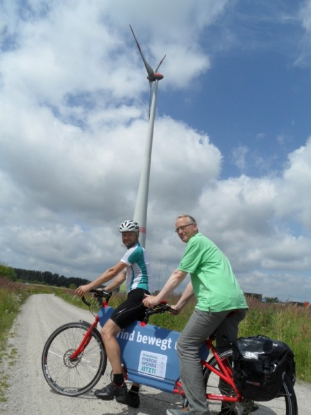 WindRAD-Tour 2013 mit Sebatian Bock und Klaus Mindrup
