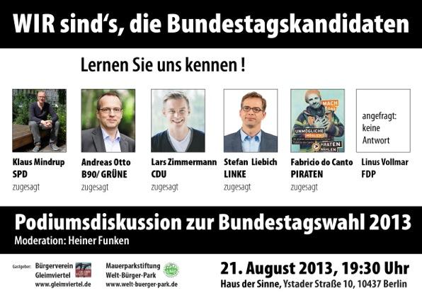 Kandidaten für die Bundestagswahl 2013