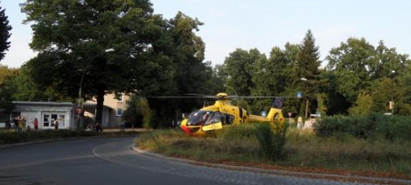 ADAC Luftrettung - Christoph 31 auf dem Hamburger Platz gelandet
