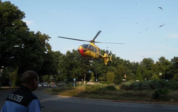 Abflug: Christoph 31 startet vom vom Hamburger Platz