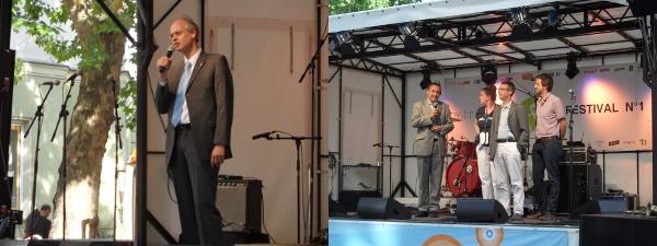 Casting Carree Festival: Eröffnungsreden: Bürgermeister Köhne - Jochen Bückmann, Stefanie Gronau, Thorsten Tondorf, Sebastian Mücke
