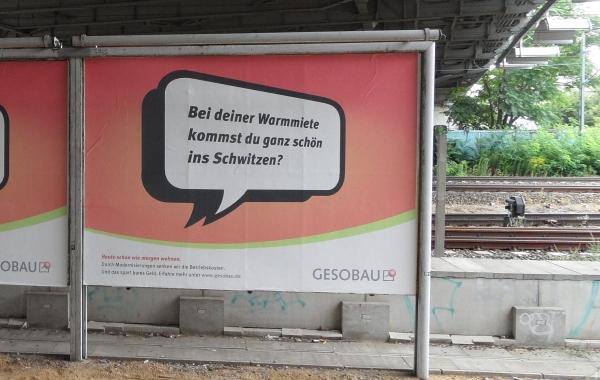 GESOBAU - Werbung am S-Bhf. Bornholmer Strasse