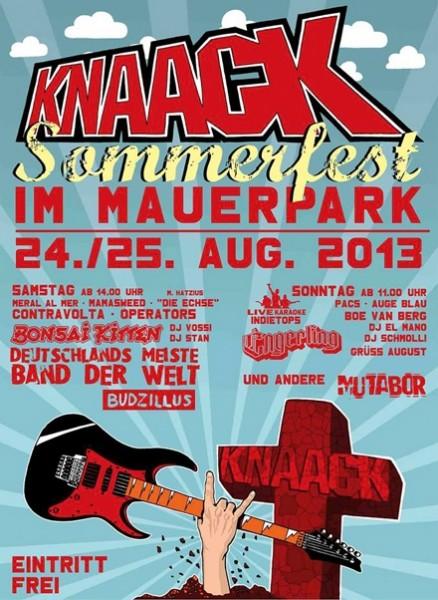 Knaack-Sommerfest im Mauerpark am 24./25. August 2013