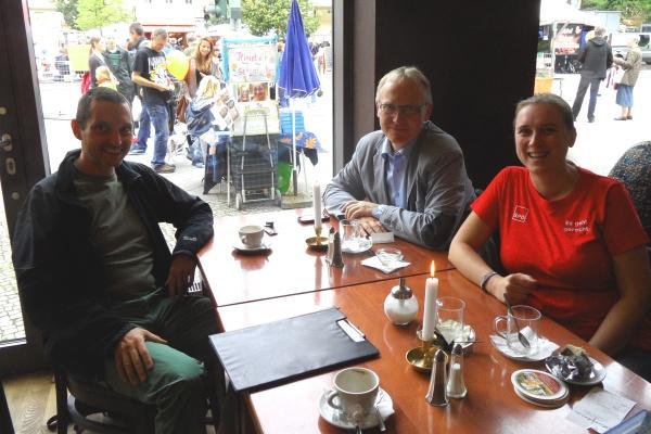 Interview am Rande des Pankefestes am 14.9.2013 Cornelius Bechtler, Klaus Mindrup, Rona Tiedje