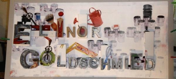 Elinor Goldschmied - künstlerisch gestaltetes Namensschild von Micheline Richau