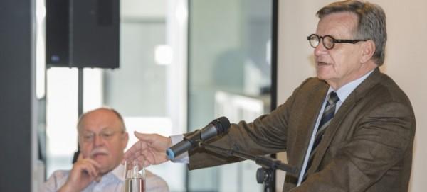 Hartmut Mehdorn beim Start von SPRINT auf dem BER am 1.5.2013