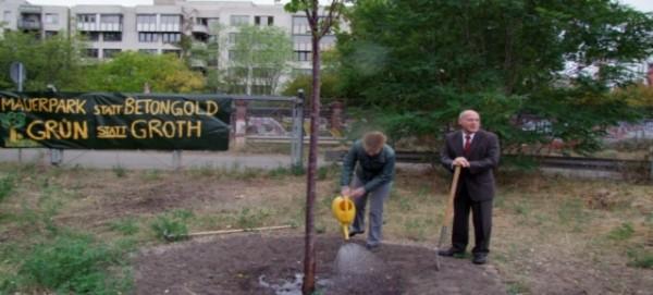 Baumpaten geben sich die Ehre im Mauerpark am 2.9.2013