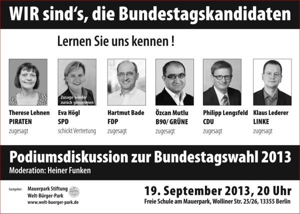 Podium zur Bundestagswahl in Wedding-19-9-2013
