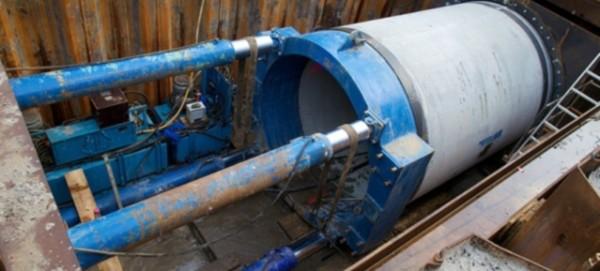 Rohrvortriebsmaschine - Foto: Berliner Wasserbetriebe