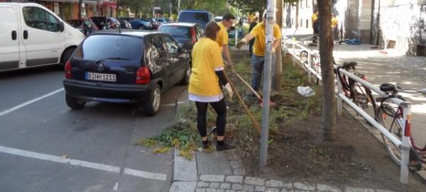 Mach mit! Für ein schönes Berlin!  Grünflächenpflege an der Schule am Falkplatz