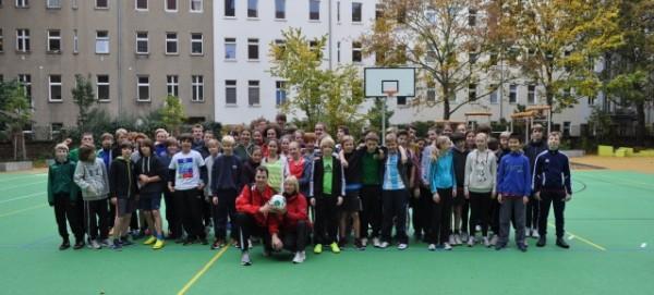 Übergabe des 2. Pausenhof der Käthe-Kollwitz-Oberschule am 17.10.2013