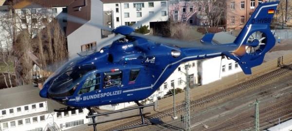 Bahnüberwachungsflug der Bundespolizei mit Eurocopter EC 135