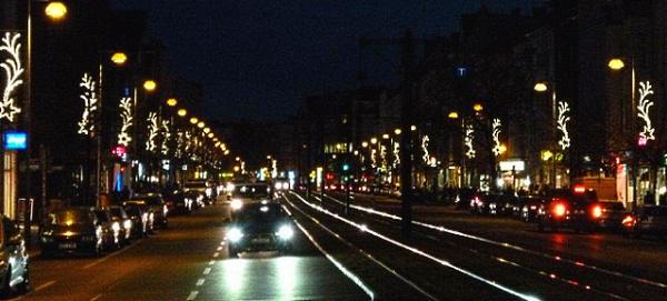 Berliner Allee mit Weihnachtsbeleuchtung 2012
