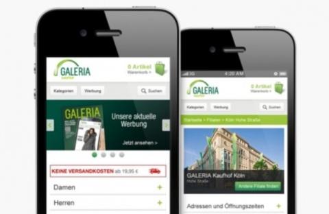 Galeria Kaufhof - mobil einkaufen - Pressefoto